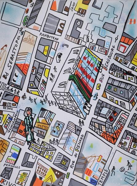 Simon Pradinas, 'Le quartier de Beaubourg', 2016