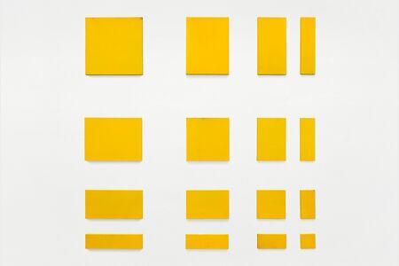 Paul Mogensen, 'no title (cadmium yellow light, sixteen part separated rectangles)', 1973