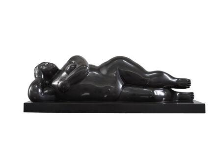 Fernando Botero, 'Mujer recostada sobre el costado', 2014