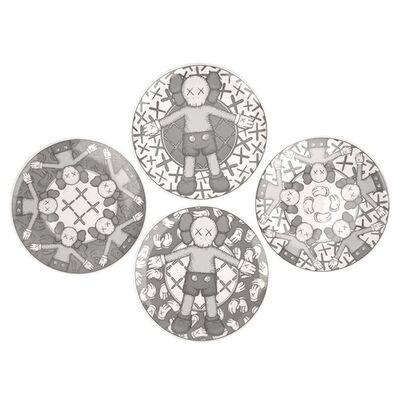 KAWS, 'Ceramic Plate Set (Grey) (Set of 4)', 2019