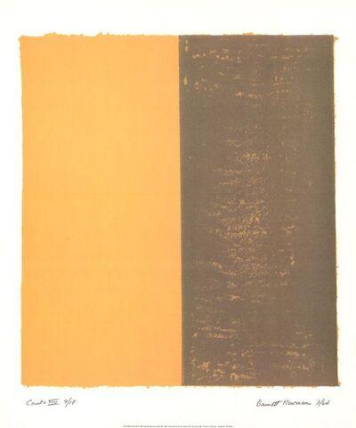 Barnett Newman, 'Canto XIII', 1998