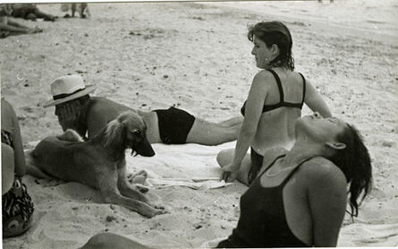 Man Ray, 'Dora Maar, Ady, Picasso and Kasbec-dog (Holidays in Antibes)', 1937