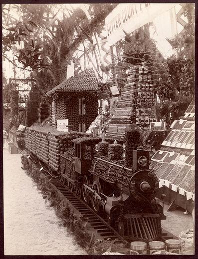 Morris E. Phares, 'Sutter Country Exhibit, Sutler Ranch Train, Sutler County on Wheels', 1890c /1890c