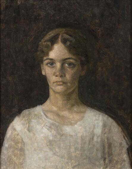 Vilhelm Hammershøi, ' Portrait of Miss Else Aagesen', 1913
