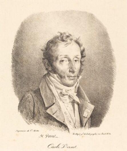 Horace Vernet, 'Bust of Carle Vernet', 1817