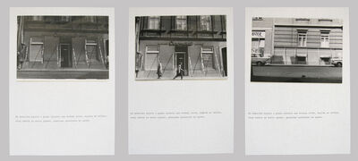 Goran Trbuljak, 'At several places in the city', 1971