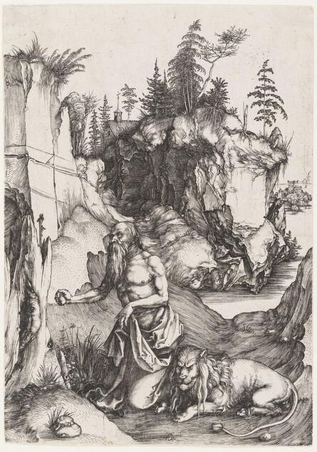 Albrecht Dürer, 'St. Jerome Penitent in the Wilderness', 1496