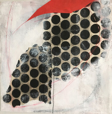 Diane Englander, 'Black Dots with Red and White', 2019