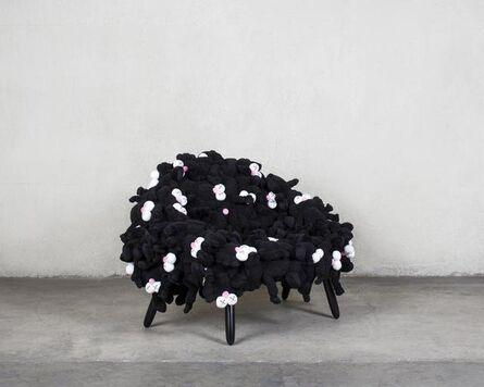 KAWS, 'Campana Black BFF Chair', 2018