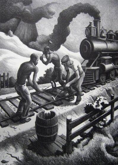 """Thomas Hart Benton, '""""Ten Pound Hammer""""', 1967"""