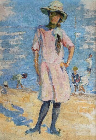 Edith Lake Wilkinson, 'Girl On Beach', ca. 1916