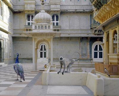Karen Knorr, 'The Courtyard Conference, Dungarpur Palace'