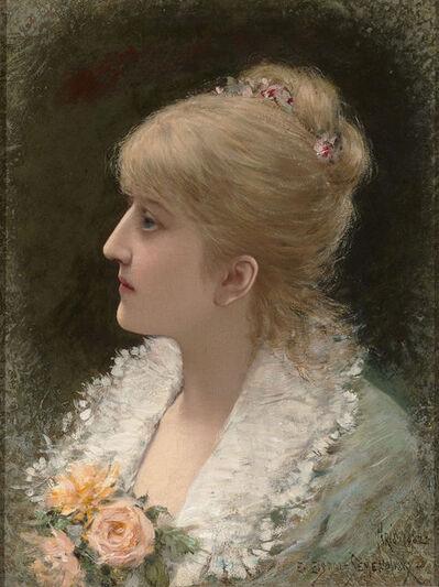 Emile Eisman-Semenowsky, 'Portrait of a Young Woman', 1882
