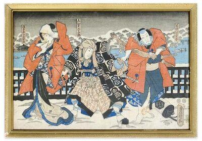 Utagawa Toyokuni III (Utagawa Kunisada), 'Japanese Theatrical Scene', ca. 1860