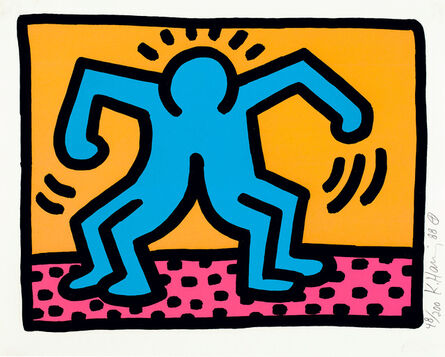 Keith Haring, 'Pop Shop II: one plate (L. pp. 96-97)', 1988