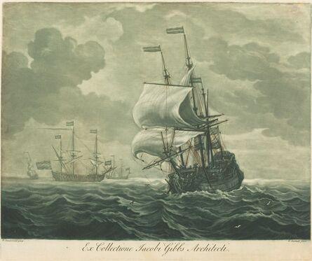 Elisha Kirkall after Willem van de Velde the Elder, 'Shipping Scene from the Collection of Jacob Gibbs', 1720s