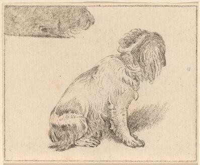 Cornelis Ploos van Amstel and Cornelis Brouwer after Frans van Mieris, 'Seated Dog', 1777