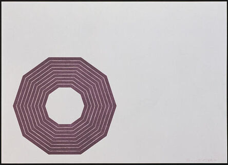 Frank Stella, 'D.', 1972
