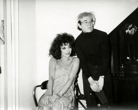 Andy Warhol, 'Andy Warhol, Photograph with Joan Collins, 1985', 1985