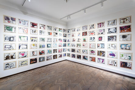 Anthony Corner, 'Untitled (96 drawings installation)', 2016-2019