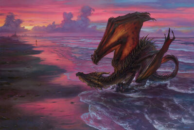 Donato Giancola, 'Drogon and Daenerys in Slaver's Bay', 2018