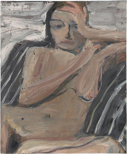 Richard Diebenkorn, 'Nude on Black and White Stripes', 1962