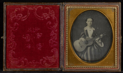 Unknown Artist, 'Portrait of Young Girl with a Guitar', ca. 1850
