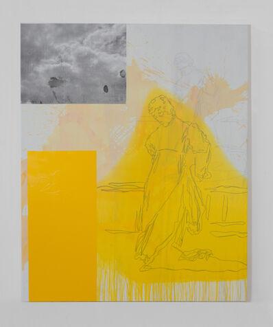 Julião Sarmento, 'Esta lo deja pensativa (Yellow)', 2020