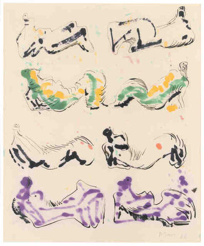 Henry Moore, 'Eight Reclining Figures', 1966
