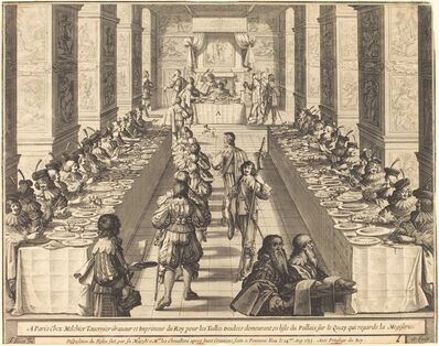 Abraham Bosse, 'Banquet Given by the King to the New Knights', 1633