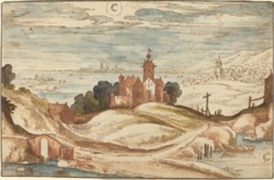 Joos de Momper II, 'Landscape with Chateau on a Hill'