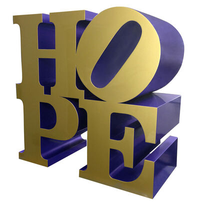 Robert Indiana, 'HOPE (Gold/Blue)', 2009