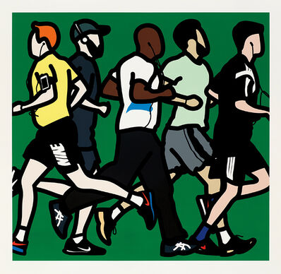 Julian Opie, 'Running Men, from Runners', 2016