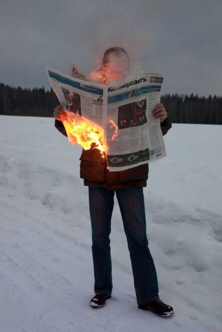 Tim Parchikov, 'Burning News', 2012