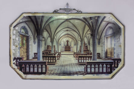 Gina Soden, 'Abandoned Church on Antique Mirror', 2018