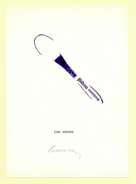 Géza Perneczky, 'Stamping Little Objects', 1973