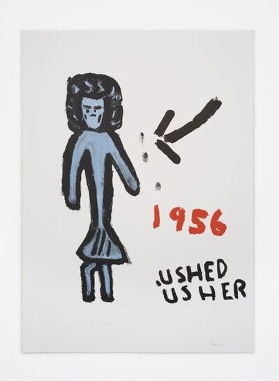 Rose Wylie, 'Grumpy Girl', 2020