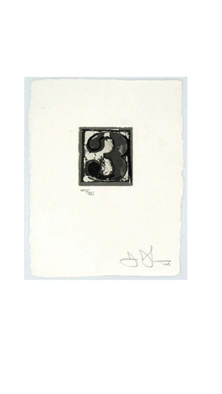 Jasper Johns, 'Numeral 3', 1975