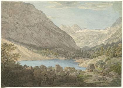 """Max Joseph Wagenbauer, '""""The Blue Pool"""" in the Rein Valley near Garmisch', 1806"""