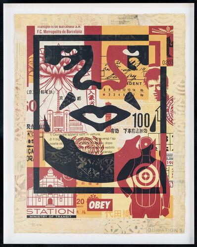 Shepard Fairey, 'Icon Collage (Bottom)', 2016