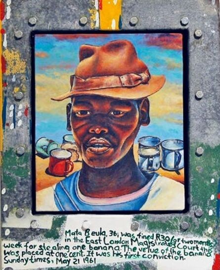 Willie Bester, 'James with a brown hat '