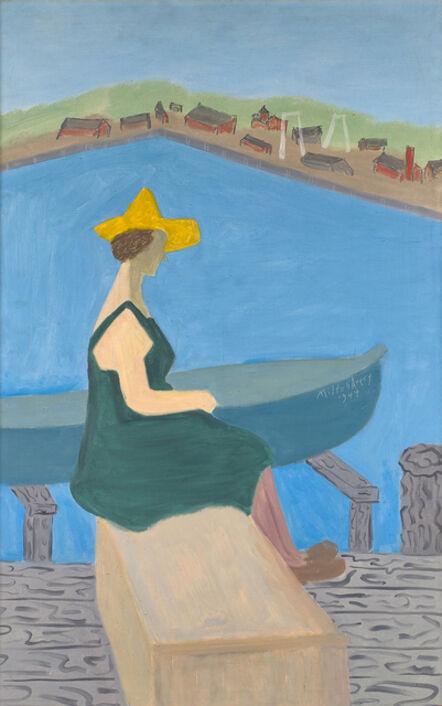 Milton Avery, 'Girl by Lake', 1944