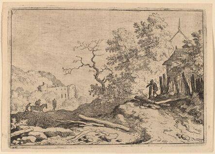 Allart van Everdingen, 'Hut with the Remains of a Hedge', probably c. 1645/1656
