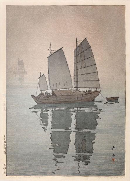 Yoshida Hiroshi, 'Sailing Boats - Mist', 1926