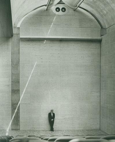 Louis Kahn, 'Louis Kahn in the auditorium of the Kimbell Art Museum', 1972