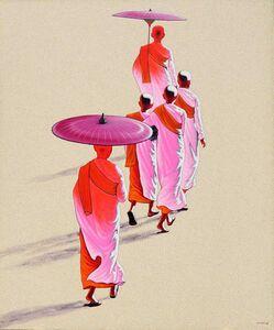 Min Wae Aung, 'Towards Monastery', 2010