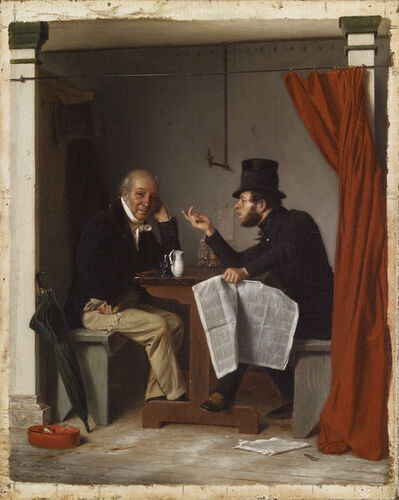 Richard Caton Woodville, 'Politics in an Oyster House ', 1848