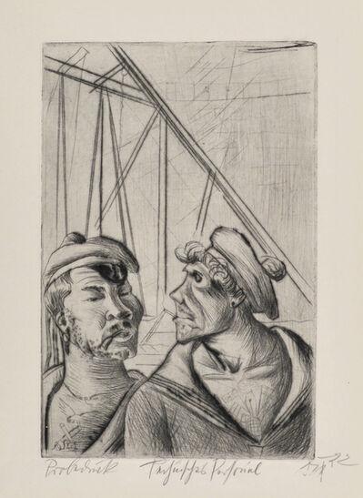 Otto Dix, 'Technical Personnel', 1922