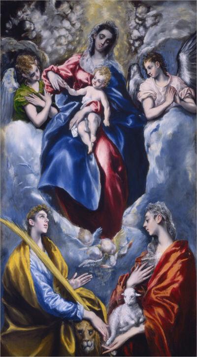 El Greco, 'Madonna and Child with Saint Martina and Saint Agnes', 1597/1599