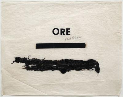 Paul Kos, 'Ore', 1974
